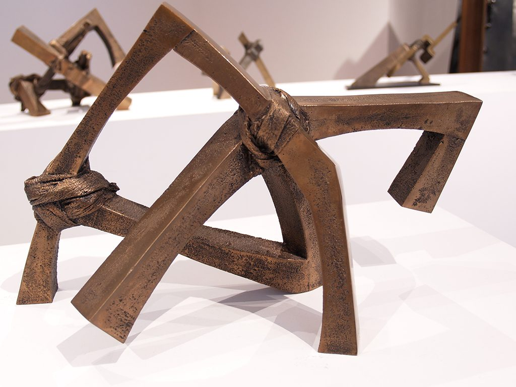 Emprise structure no 11, 1983, bronze, 26,3 x 43,5 x 25 cm