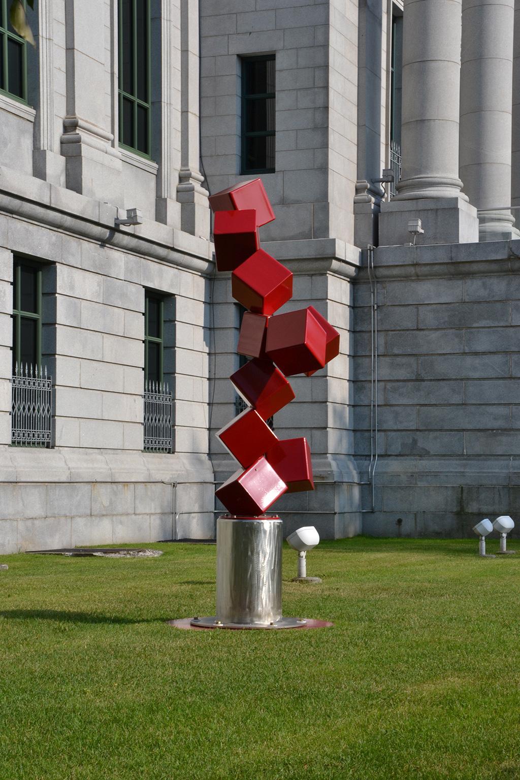 10 pieds cube rouges à la seconde