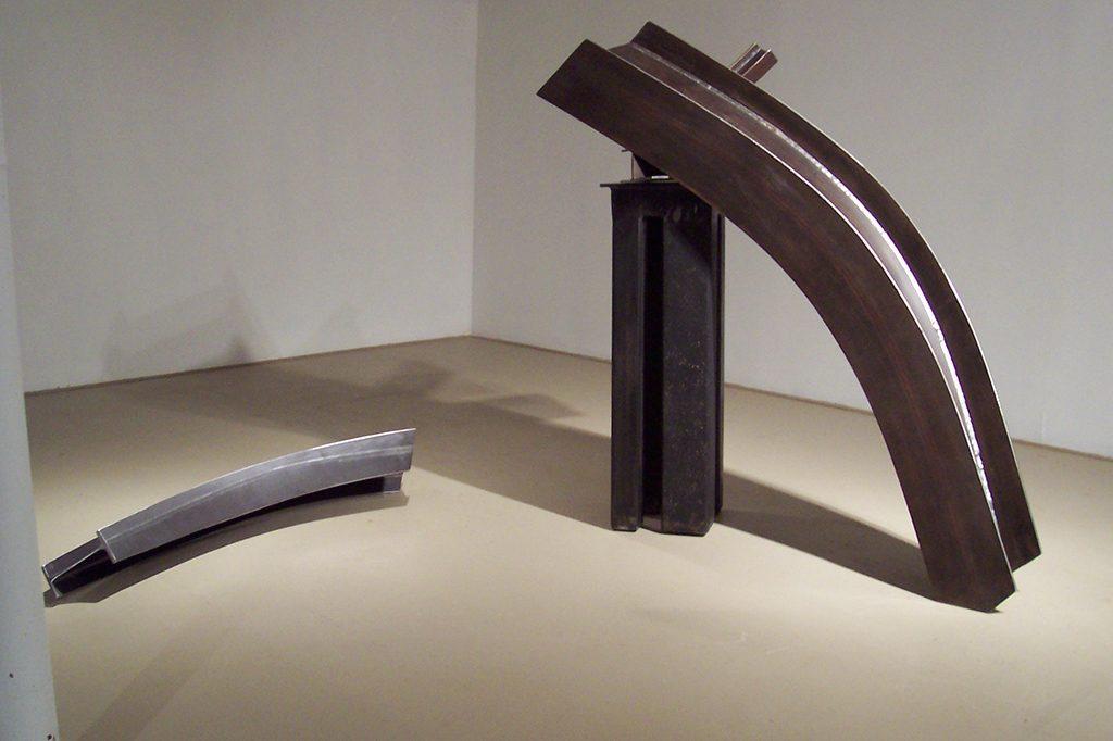 Au fil du temps, 2008, acier corten, 160 x 250 x 100 cm