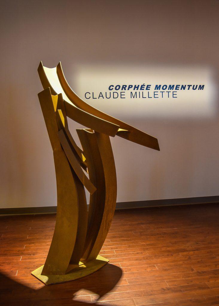 Corphéum XV, 2008-2016, acier corten, 183 x 91 x 61 cm