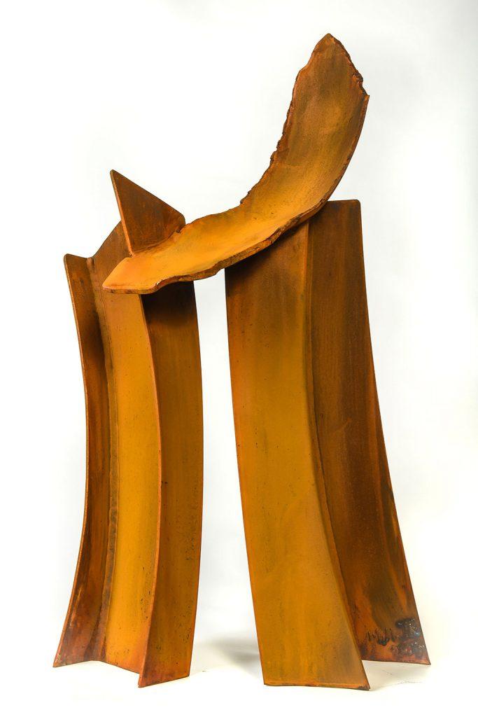 Résurgence, 2017, acier corten, 85 x 50 x 20 cm