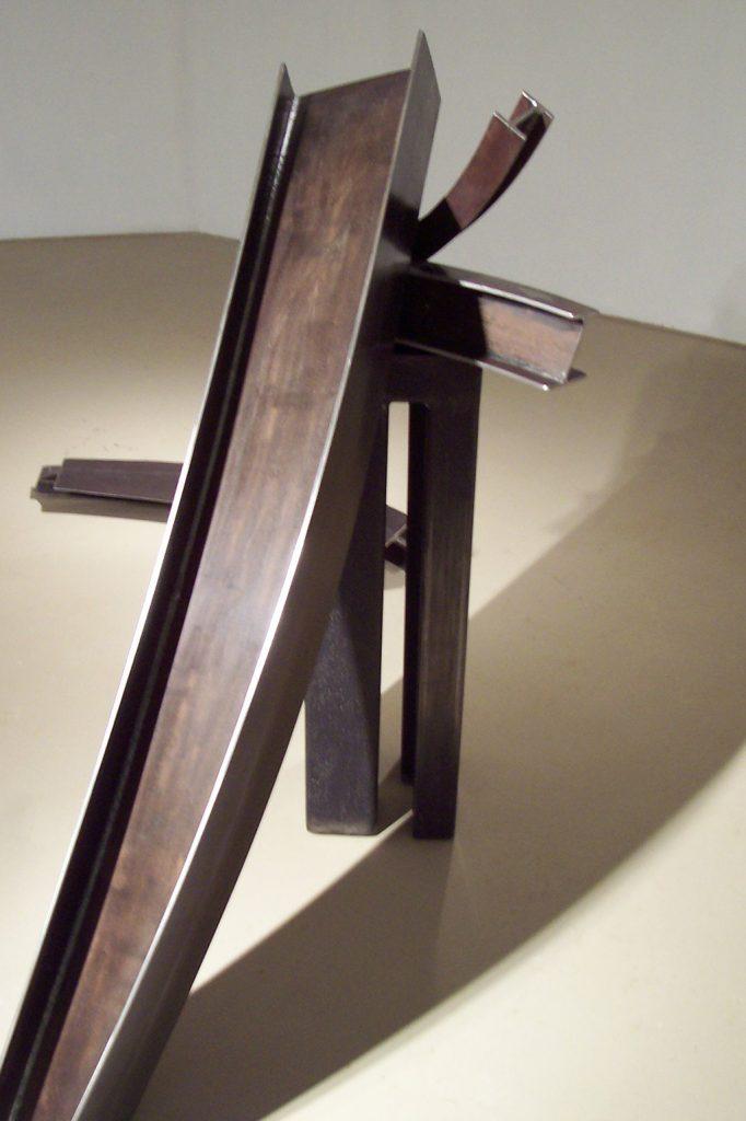 Au fil du temps, détail, 2008, acier corten, 160 x 250 x 100 cm