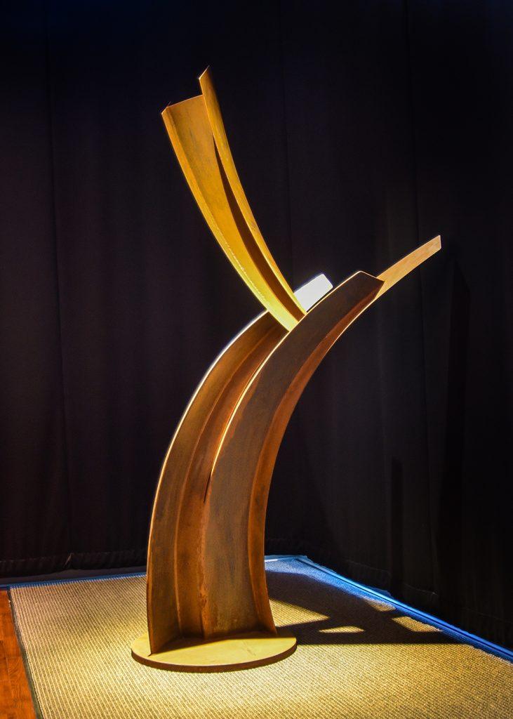 Corphéum VI, 2014, acier corten, 190 x 160 x 100 cm